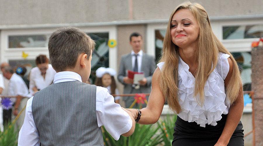 1 сентября в краснодарской школе ©Елена Синеок. ЮГА.ру