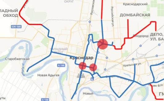 Точки наибольшей перегрузки трамвайной сети ©«Городские решения»