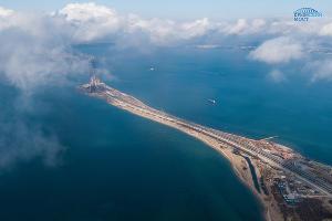Строительство Крымского моста ©Фото инфоцентра «Крымский мост», most.life