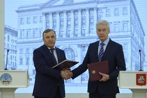 Мурат Кумпилов и Сергей Собянин ©Фото пресс-службы главы Республики Адыгея