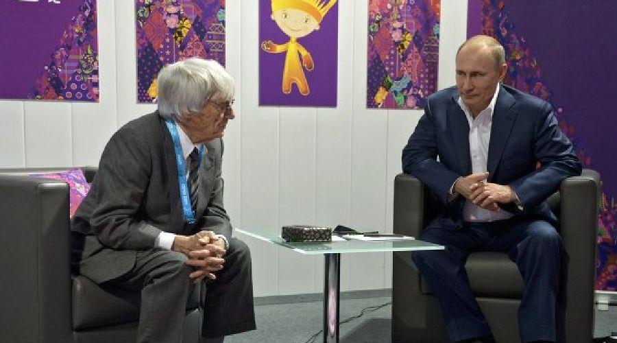 Берни Экклстоун и Владимир Путин ©РИА Новости