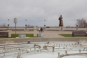 Мемориал солдату-красногвардейцу на Крепостной горке в Ставрополе ©Фото пресс-службы администрации губернатора Ставропольского края