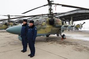 Ритуал вручения новых вертолетов Ка-52 в Кореновске ©Виталий Тимкив, Юга.ру