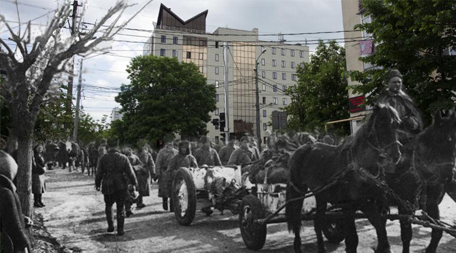 Прошлое и настоящее Краснодара в одном кадре ©Коллаж Елены Синеок