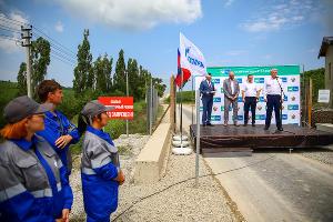 Открытие газопровода ©Фото пресс-службы «Газпром газораспределение Краснодар»