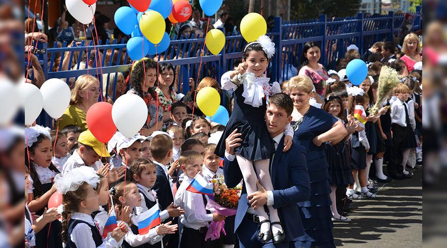 Открытие новой школы во Владикавказе ©Пресс-служба главы и правительства Северной Осетии