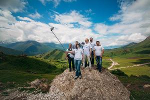 """Телеком-экспедиция """"МегаФон на высоте"""" в горной Ингушетии ©Фото Юга.ру"""