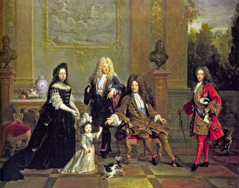 Картина «Людовик XIV с семейством», приписывается Никола де Ларжельеру, ок. 1710 года, находится в коллекции Уоллес в Лондоне ©Фото с сайта wikipedia.org