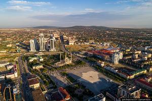 Площадь Ахмата Кадырова ©Фото Славы Степанова
