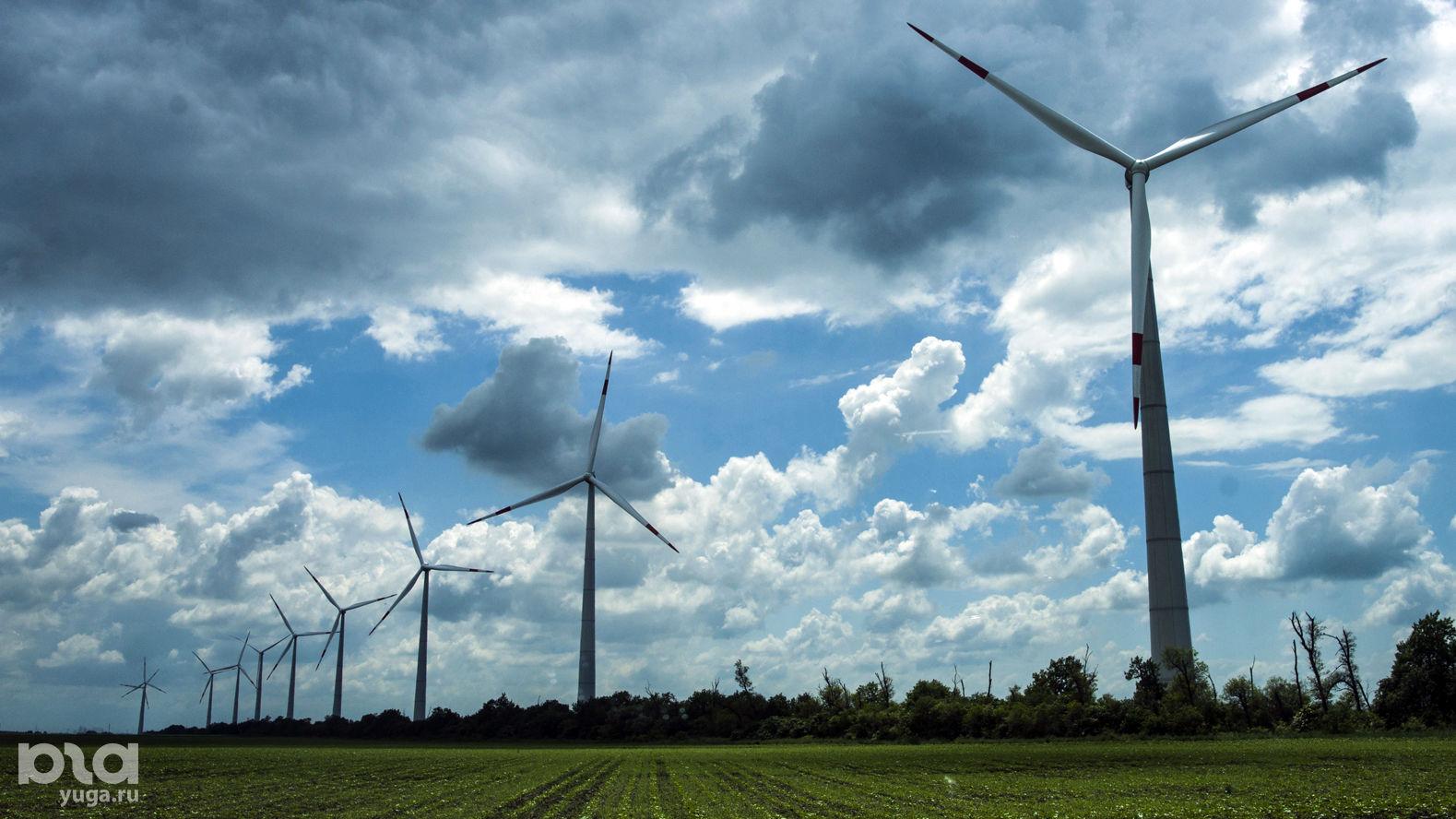Адыгейская ветряная электростанция ©Фото Евгения Мельченко
