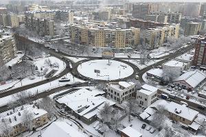 Кольцо на пересечении улиц 40-летия Победы и Российской в Краснодаре ©Фото Марии Томилиной, Юга.ру