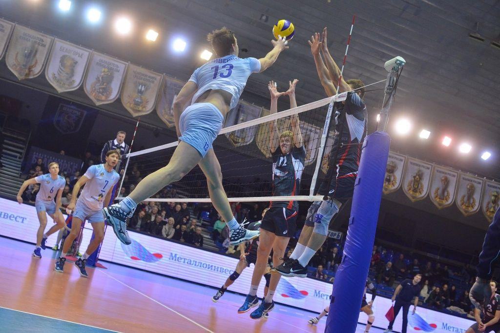Волейболисты «Белогорья» победили краснодарское «Динамо» вматче чемпионата Российской Федерации