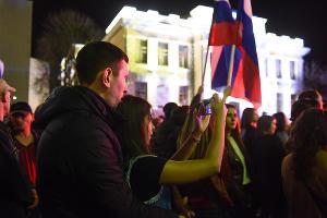 Праздничный концерт в годовщину воссоединения Крыма с Россией ©Фото Елены Синеок, Юга.ру