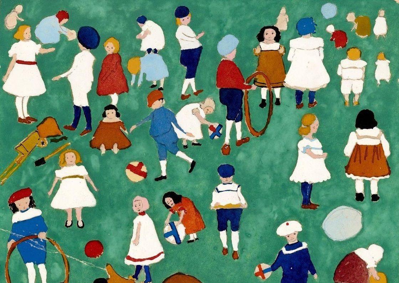 «Дети на лужайке», Казимир Малевич, 1908 год, фрагмент. Картина хранится в Пушкинском музее ©Фото с сайта pushkinmuseum.art