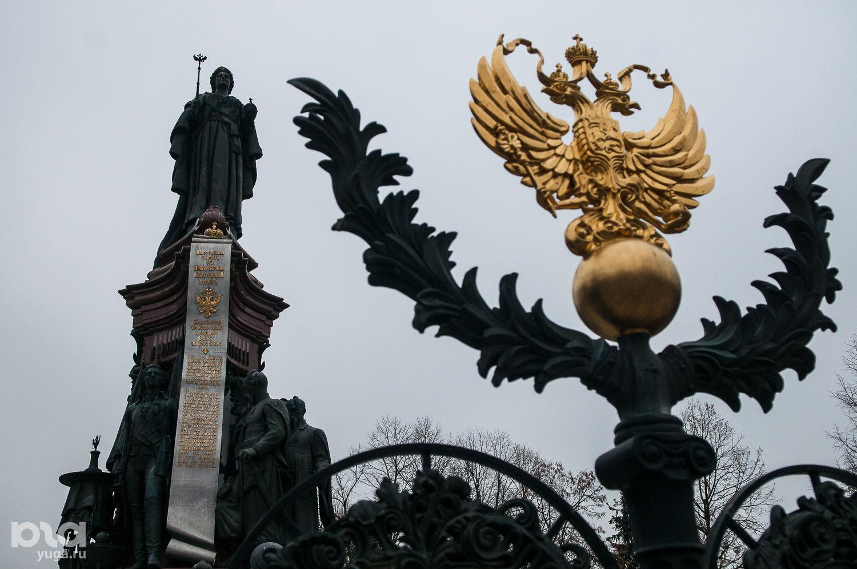 Памятник Екатерине II в Краснодаре ©Фото Елены Синеок, Юга.ру