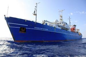 Научно-исследовательское судно «Профессор Логачев» ©Фото предоставлено пресс-службой МегаФона