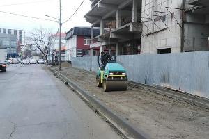 Ремонт на улице Карасунской в Краснодаре ©Фото пресс-службы администрации Краснодара