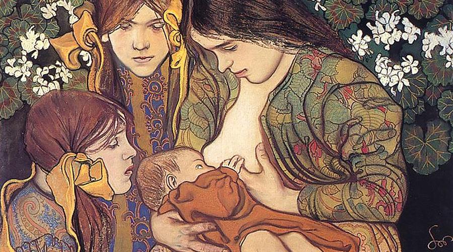 Картина «Материнство», Станислав Выспяньский ©Фото с сайта wikimedia.org