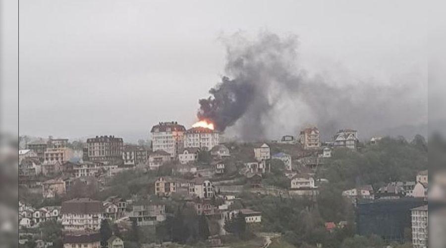 Пожар в Сочи ©Фото из аккаунта instagram.com/dtpsochi