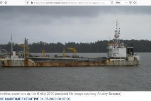 Судно AMBIKA ©Скриншот с сайта maritime-executive.com