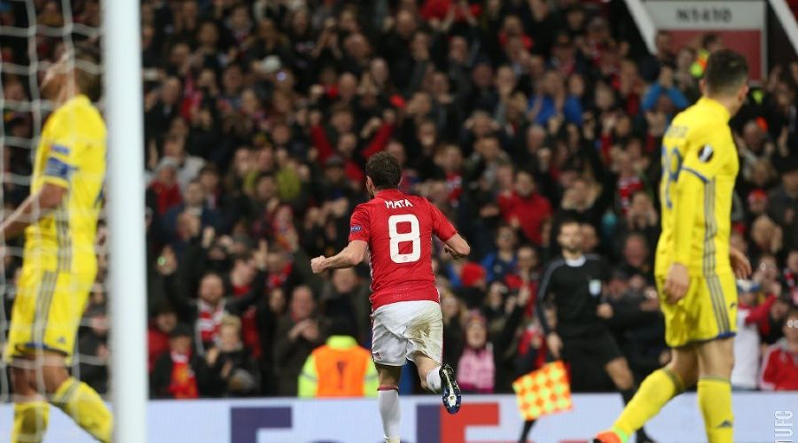 Матч 1/8 Лиги Европы «Манчестер Юнайтед» — «Ростов» ©Фото пресс-службы ФК «Манчестер Юнайтед»