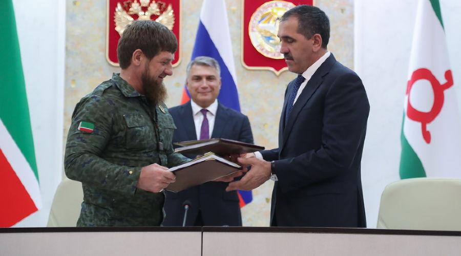 Рамзан Кадыров и Юнус-Бек Евкуров ©Фото пресс-службы главы Республики Ингушетия