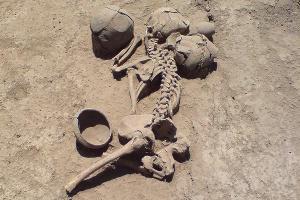 Человеческие останки, найденные при раскопках возле хутора Ленина ©Фото с сайта wikimedia.org (CC BY-SA 3.0)