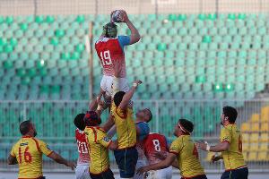 Российские регбисты проиграли испанцам в матче чемпионата Европы ©Фото ВиталияТимкива, Юга.ру