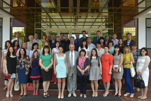 Журналисты федеральных и региональных СМИ в Адыгее ©Фото (с) Алексей Гусев