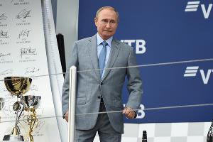 Владимир Путин, Гран-при России «Формулы-1» в Сочи, сентябрь 2018 ©Фото Екатерины Лызловой, Юга.ру