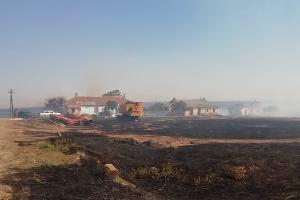 Пожар в поселке Волна ©Фото из группы «Туподар», vk.com/typodar