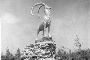 Скульптура горного козла в парке совхоза «Кропоткинский» ©Изображение пресс-службы Тбилисского района