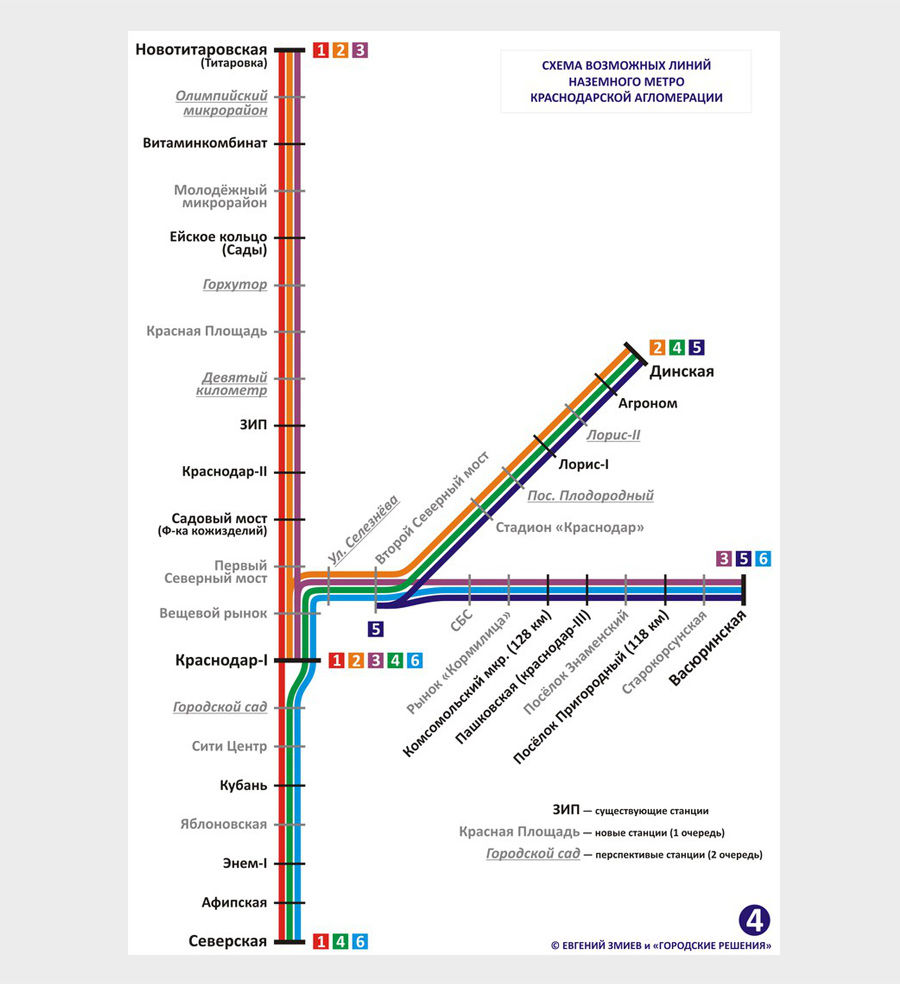 Схема возможных линий «НАЗЕМКИ»