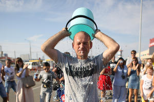 Ice bucket challenge по-краснодарски ©Фото Юга.ру