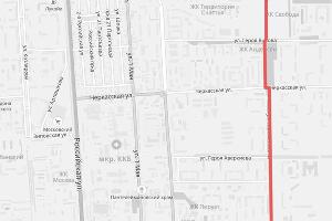 Предварительная схема продления трамвайной линии от улицы Красных Зорь в Восточно-Кругликовский район ©https://krd.ru/novosti/glavnye-novosti/news_30072018_133032.html