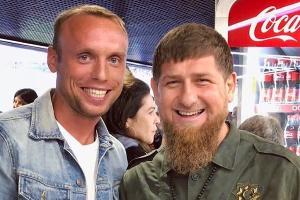 Денис Глушаков и Рамзан Кадыров ©Фото пресс-службы ФК «Ахмат»