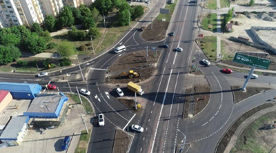 Кольцо на пересечении улиц Дзержинского и Кореновской в Краснодаре ©Фото пресс-службы администрации Краснодара