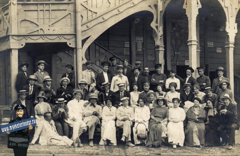 Летний театр Екатеринодара и драматическая группа Синельникова, 1910 год ©фото с сайта myekaterinodar.ru