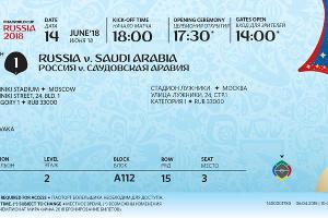 Билет чемпионата мира по футболу ©Изображение со страницы twitter.com/fifaworldcup_ru