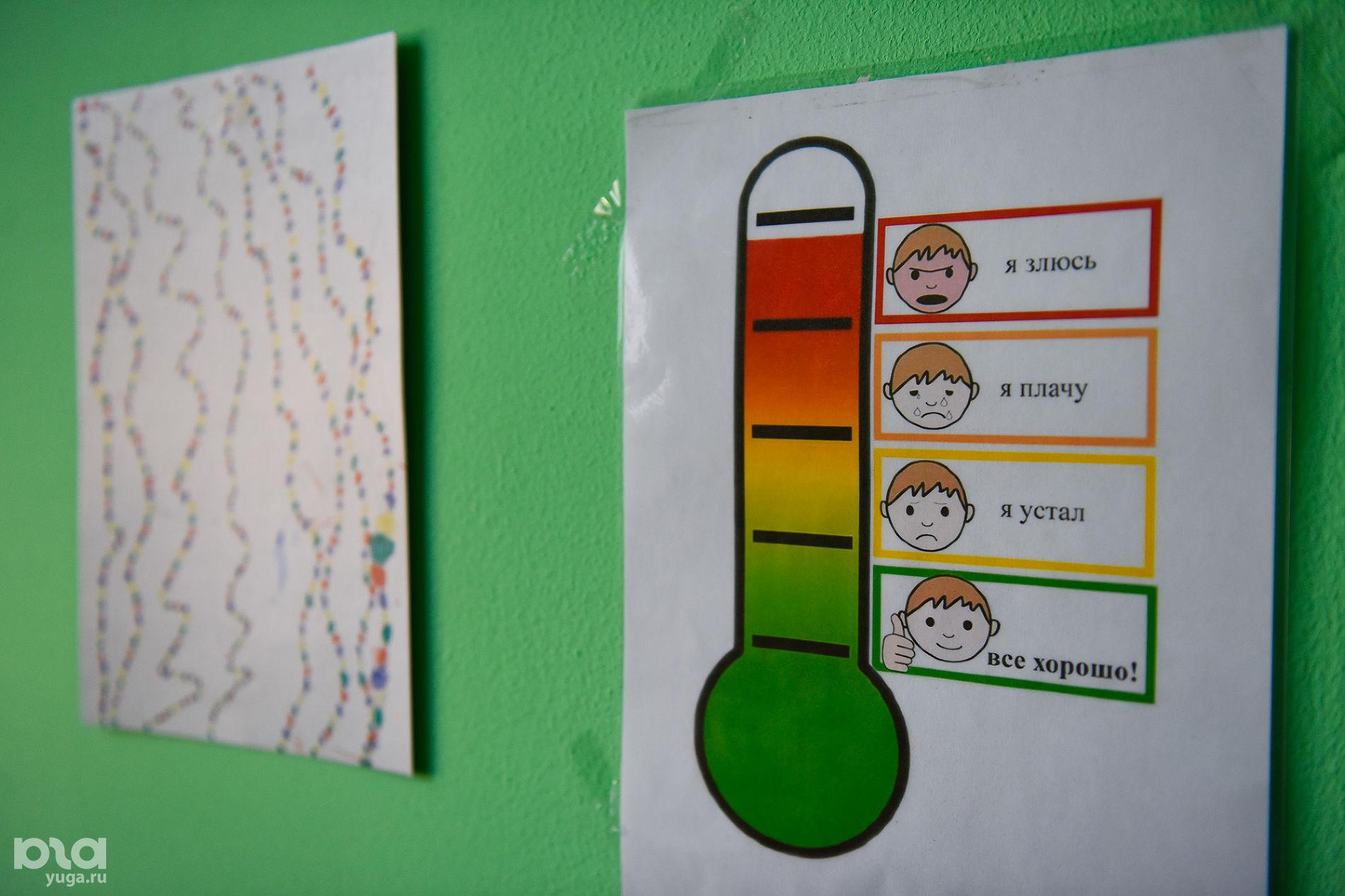 Шкала, на которой дети показывают свое настроение ©Фото Елены Синеок