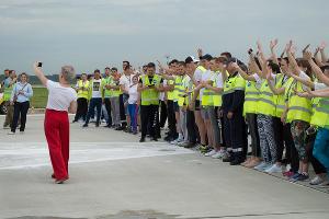 Забег на новой взлетно-посадочной полосе аэропорта Краснодара ©Фото Дмитрия Леснова, Юга.ру