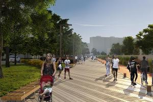 Сквер «Школьный», проект Bureu ARD ©Иллюстрация Bureu ARD