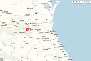 Эпицентр землетрясения в Чечне ©Скриншот с сайта «Яндекс. Карты»