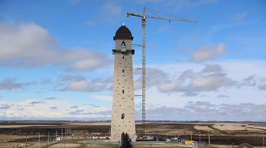 Башня Согласия в Магасе ©Фото пресс-службы главы РИ