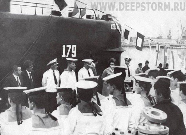 Торжественная встреча ПЛ М-261 в Краснодаре, 21 мая 1981 года ©Фото с сайта deepstorm.ru