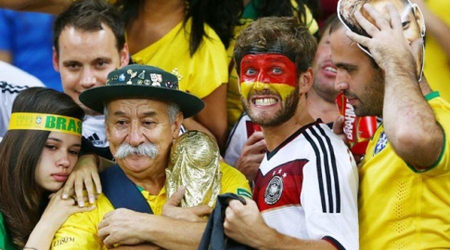 Болельщики сборной Бразилии  ©Фото с сайта sport.ru