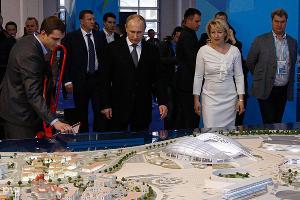 Владимир Путин в главном Медиацентре Олимпиады-2014 (февраль 2014) ©Влад Александров, ЮГА.ру