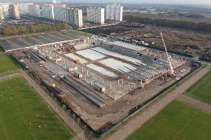 Cтройка нового стадиона ФК «Краснодар» ©Фото Евгения Таранжина