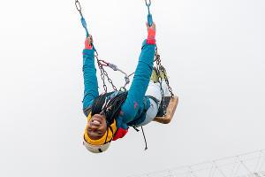 Высокогорные качели ©Изображение пресс-службы курорта «Роза Хутор»