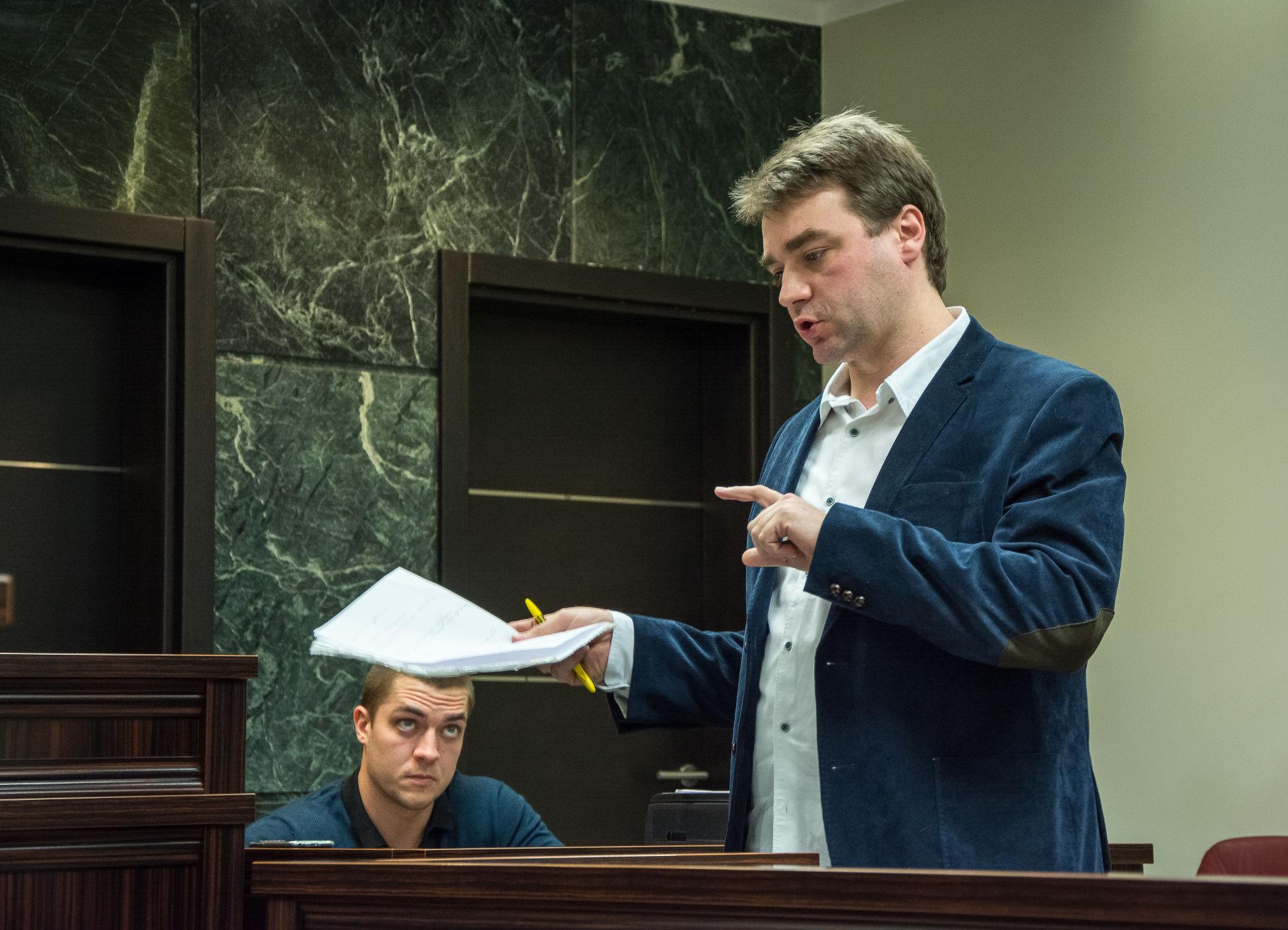 Александр Попков на суде по делу Антона Сачкова